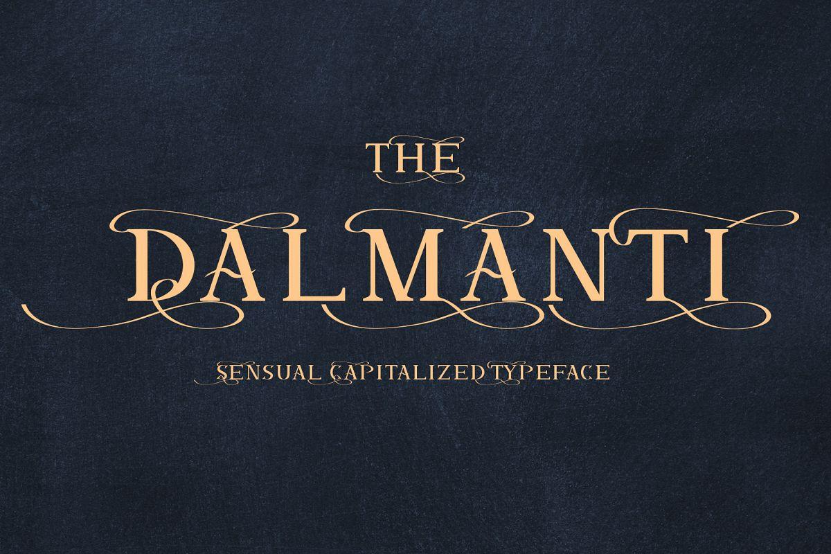 Dalmanti - Capitalized Typeface example image 1