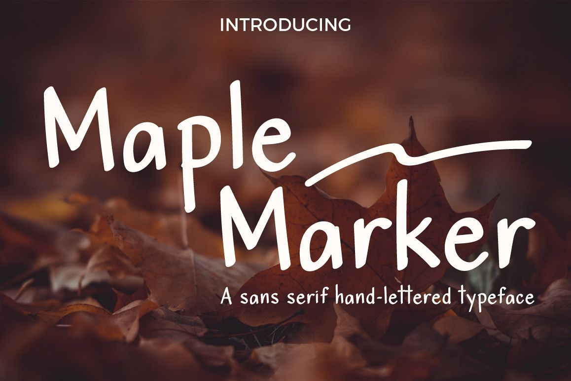 Maple Marker sans serif example image 1