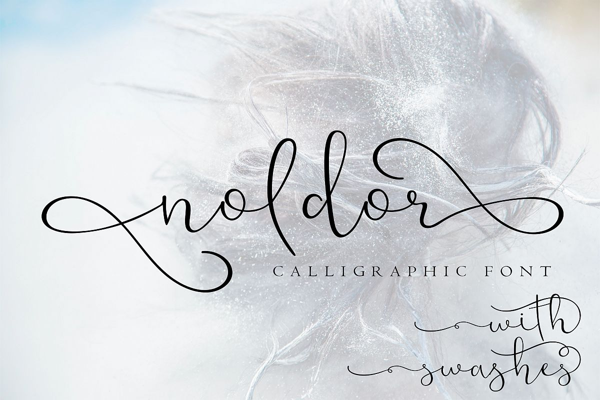 Noldor - calligraphy font with swashes example image 1