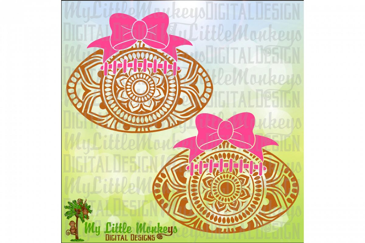 Mandala Football Bow  example image 1