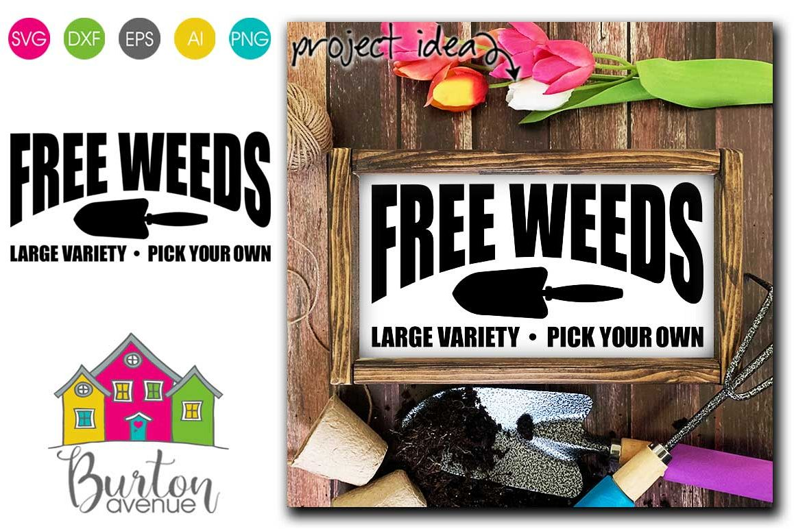 Free Weeds SVG file for Spring example image 1