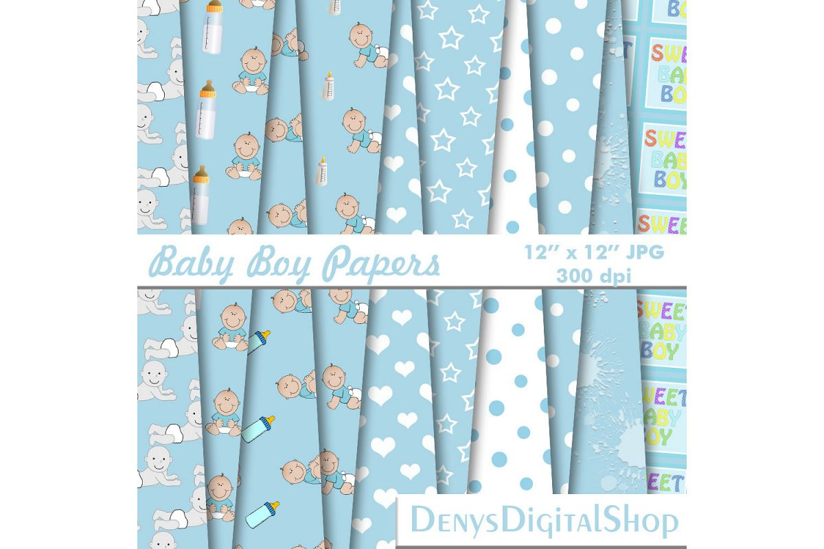 Baby Boy, Baby Shower, Blue Baby Patterned, BLACK FRIDAY,OFF example image 1