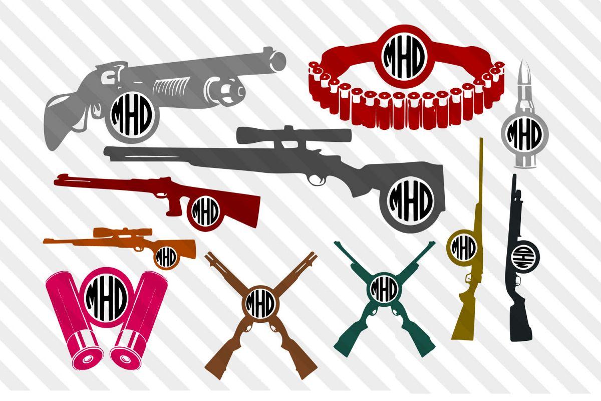 Gun,Bullets,Hunting,Deer,logo,vector,clip art,silhouette,SVG example image 1