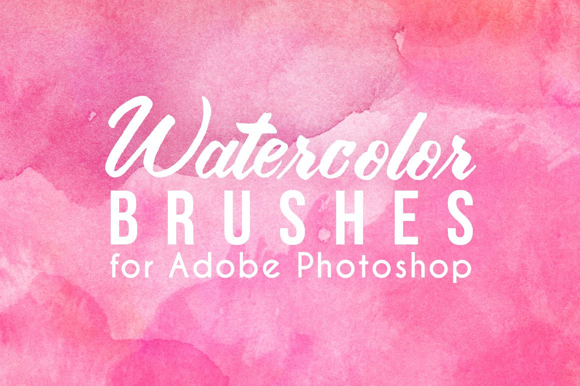 75 Real Watercolor Photoshop Brushes example image 1