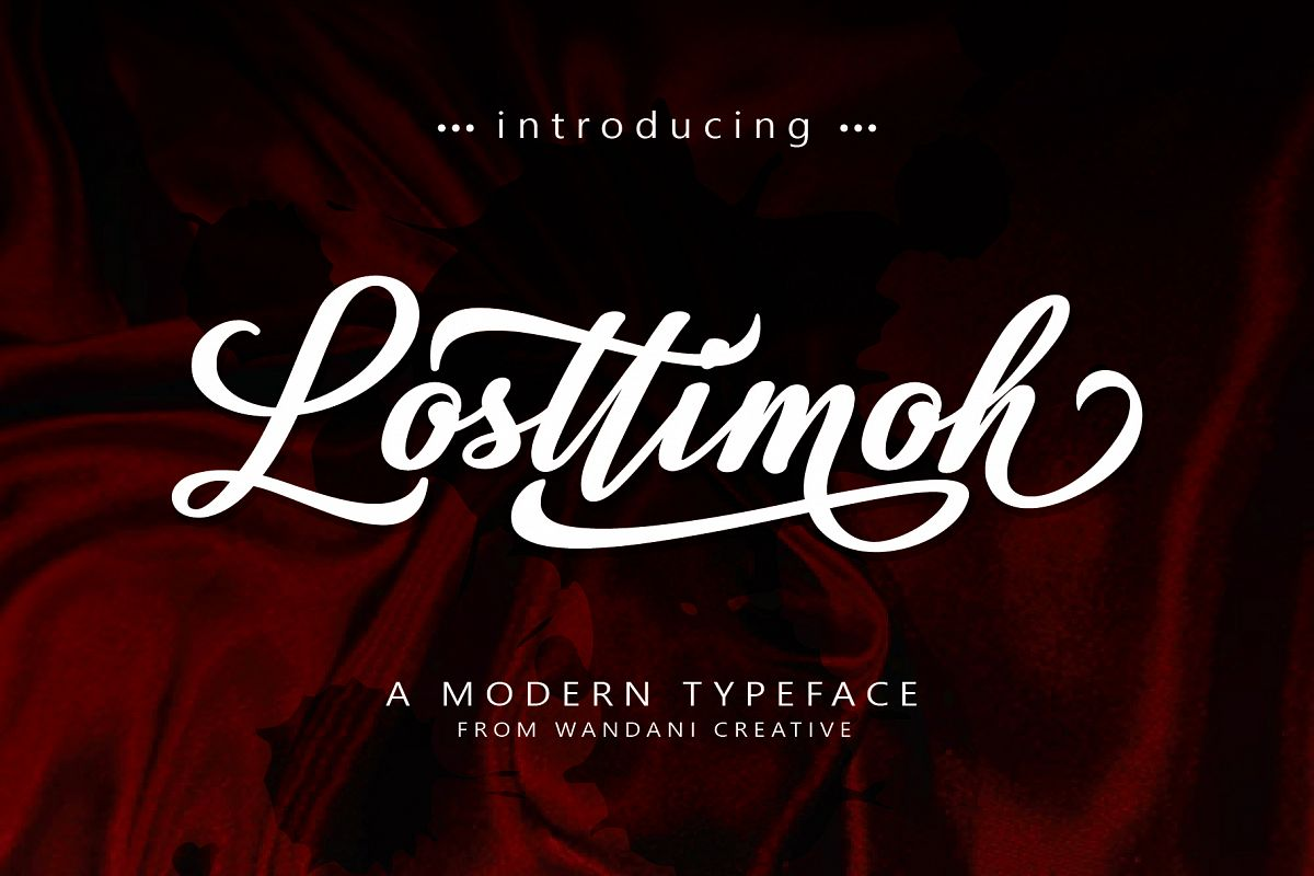 Losttimoh | A Modern Script example image 1