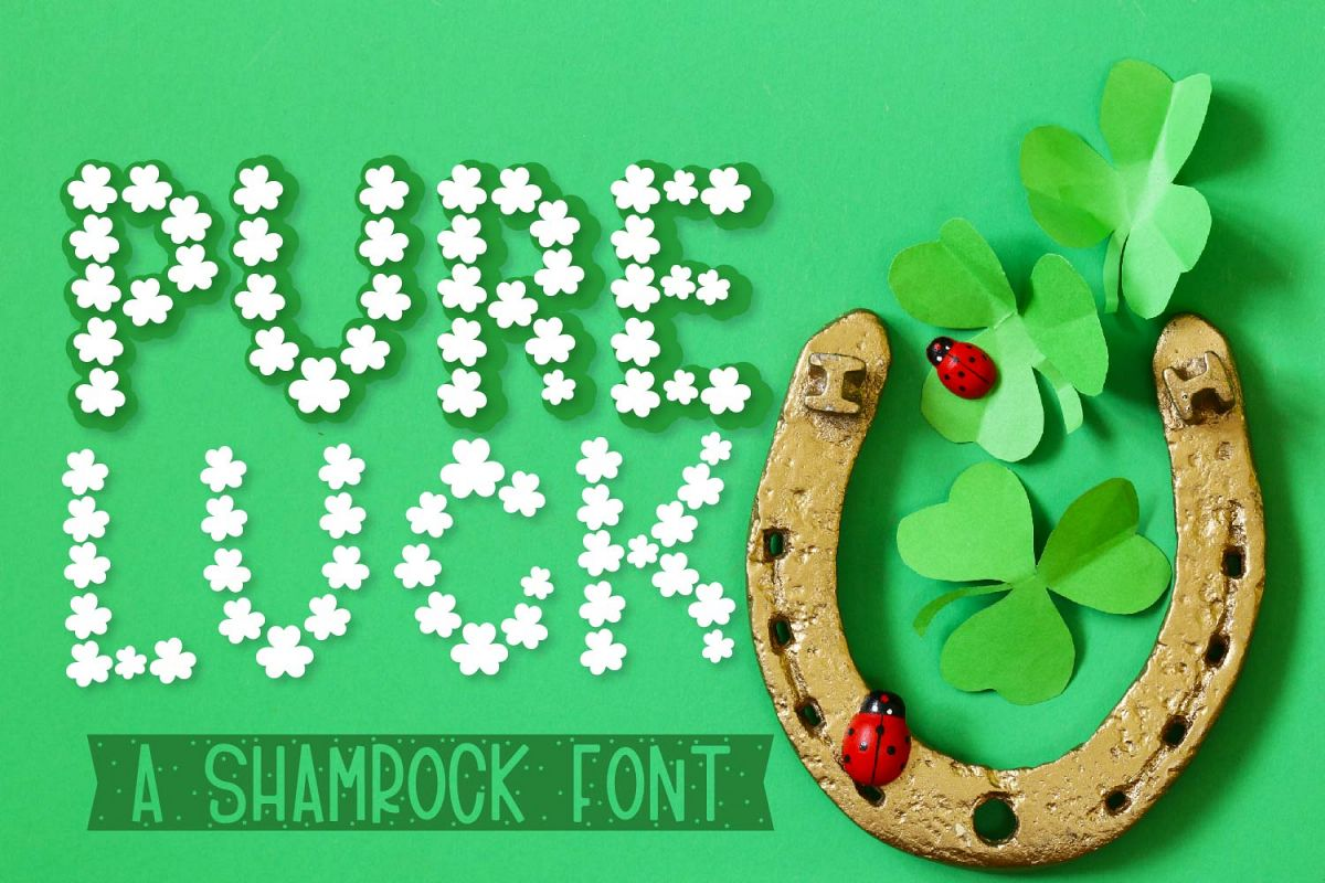 Pure Luck - A Shamrock Font Duo example image 1