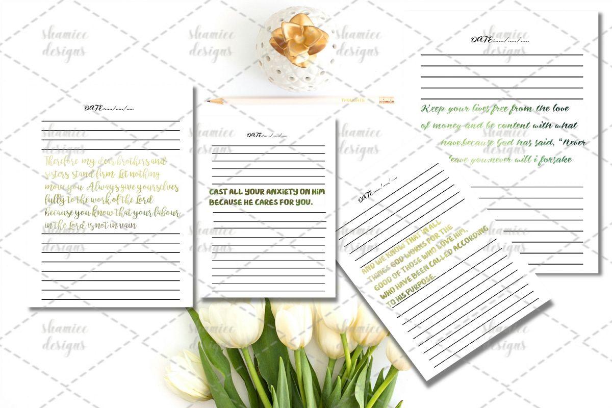 Bible study journal printable example image 1