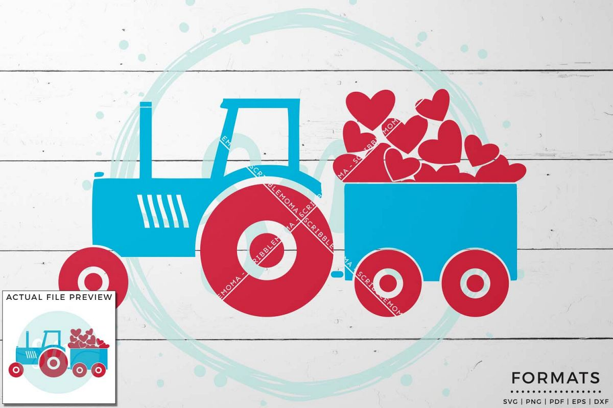 Valentine Tractor SVG example image 1