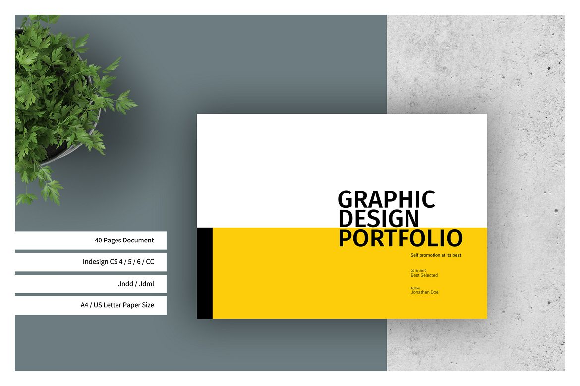 Graphic design portfolio template for Graphic designer portfolio template free download