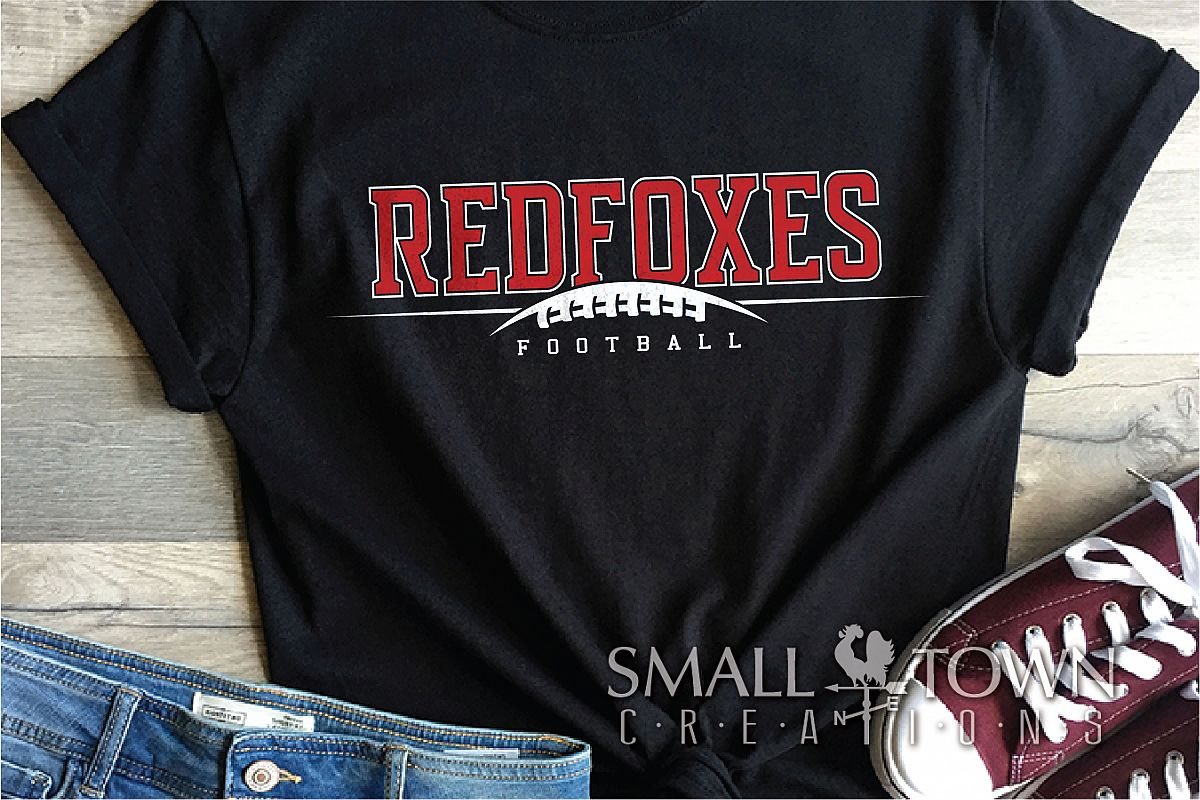 Redfoxes Football Team, Team, Sport, PRINT, CUT & DESIGN example image 1