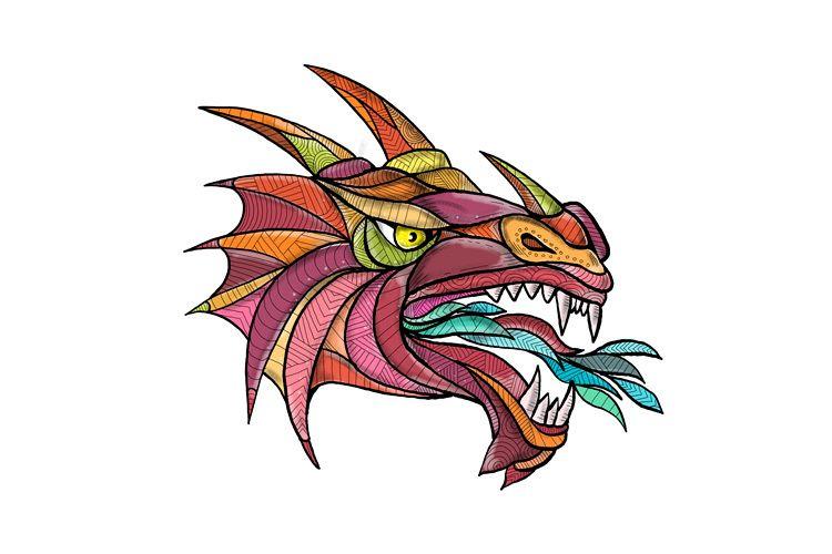 Dragon Breathing Fire Mandala example image 1