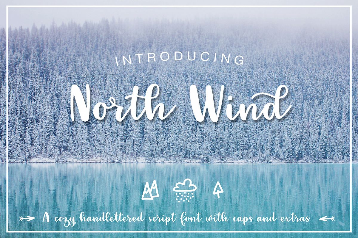 North Wind Script Font example image 1