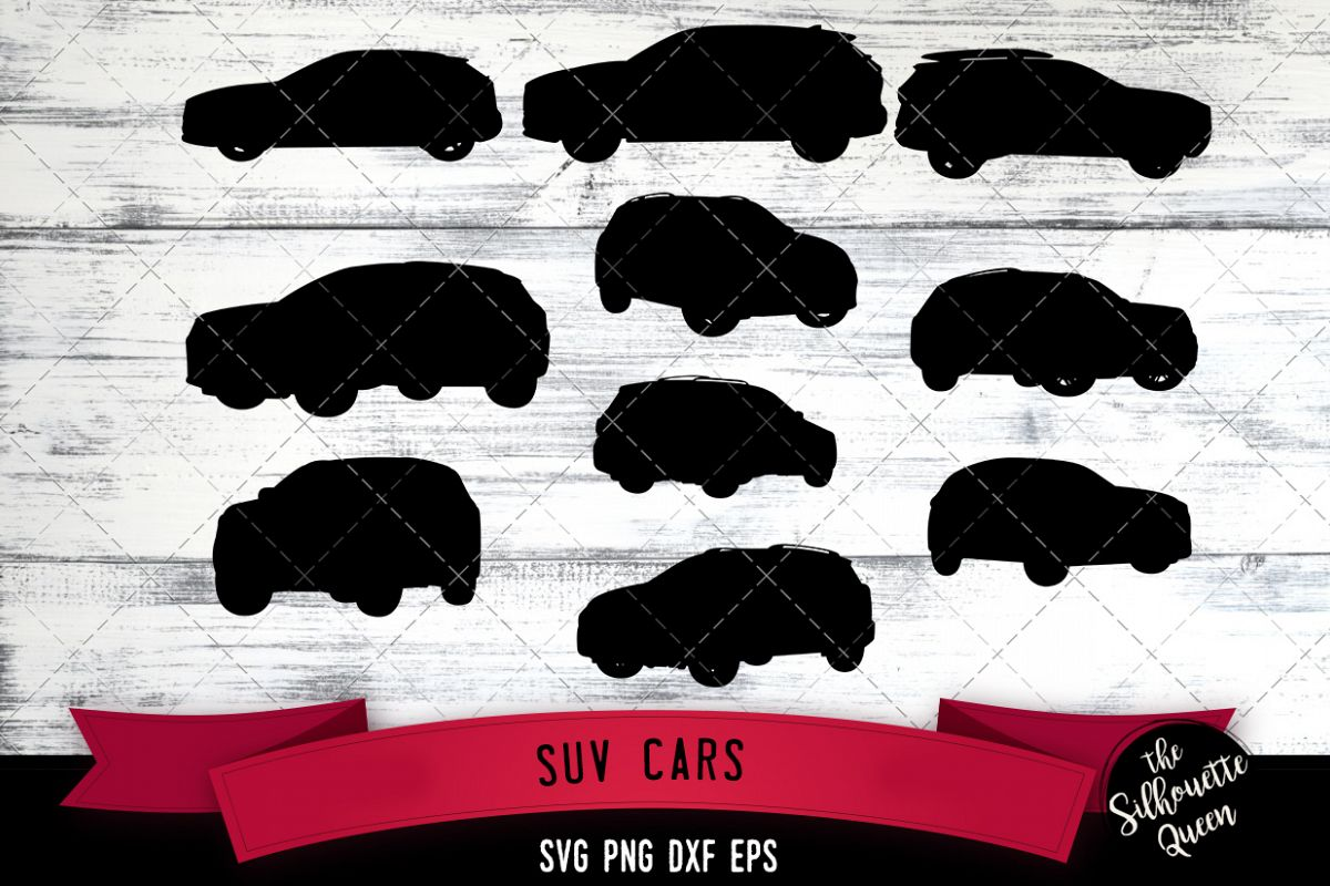 SUV Car svg file, transport svg cut file, silhouette studio example image 1