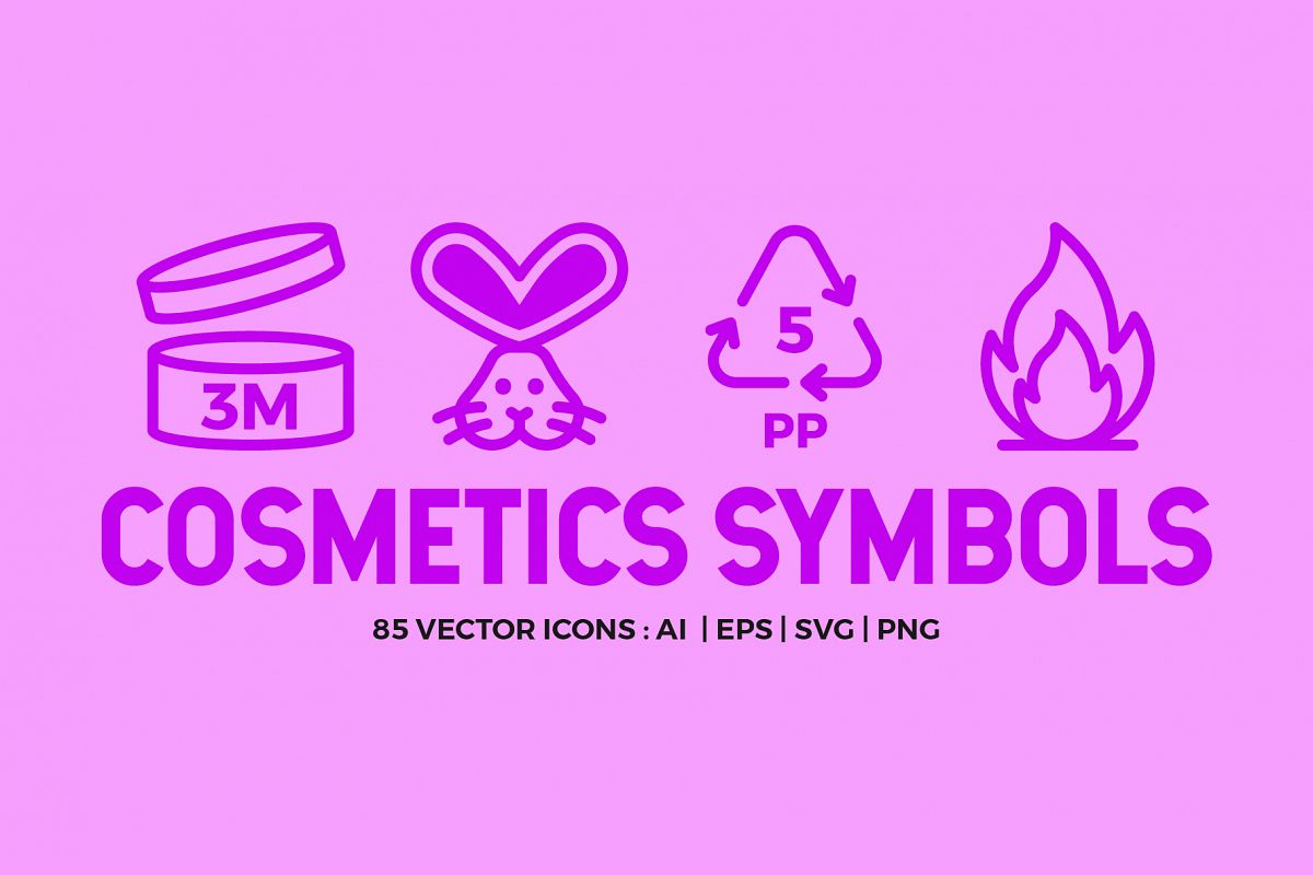 Cosmetic Packaging Symbols | Icons example image 1