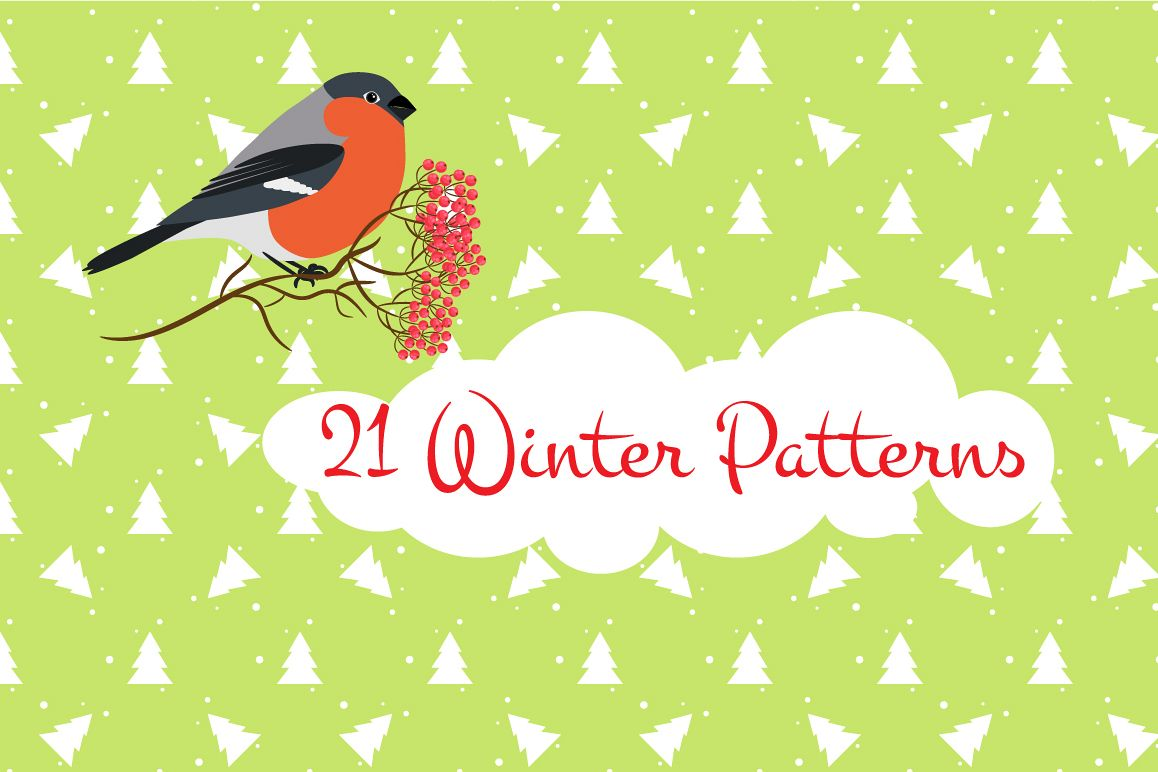 21 Winter seamless patterns example image 1