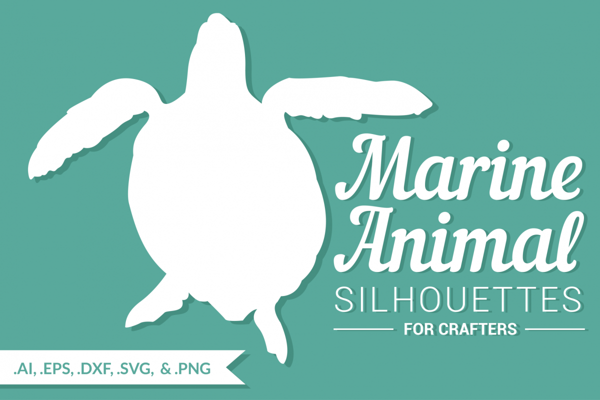 Marine Animal Silhouettes for Crafters example image 1