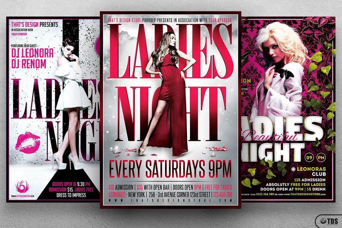 Ladies Night Flyer Bundle V3 example image 1
