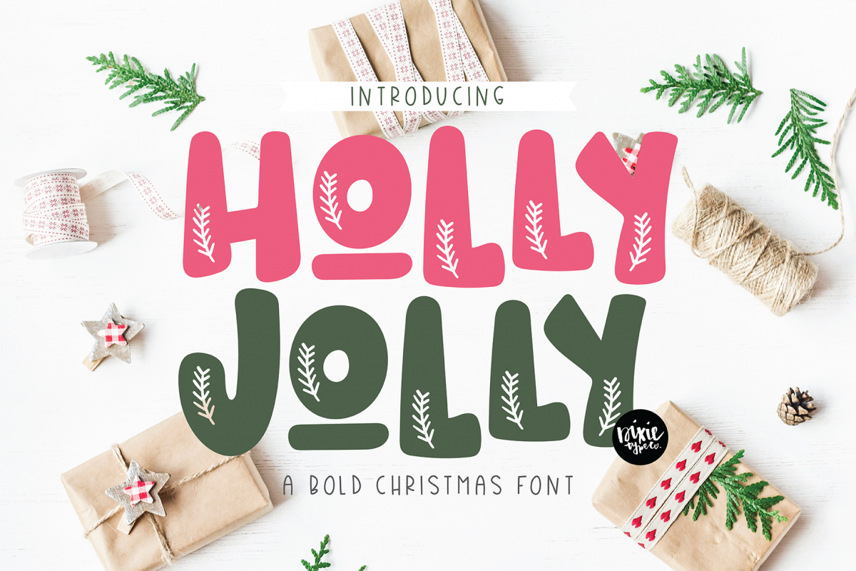 HOLLY JOLLY a Bold Christmas Font example image 1
