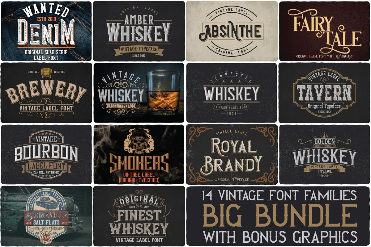 Big Bundle - 14 fonts example image 1