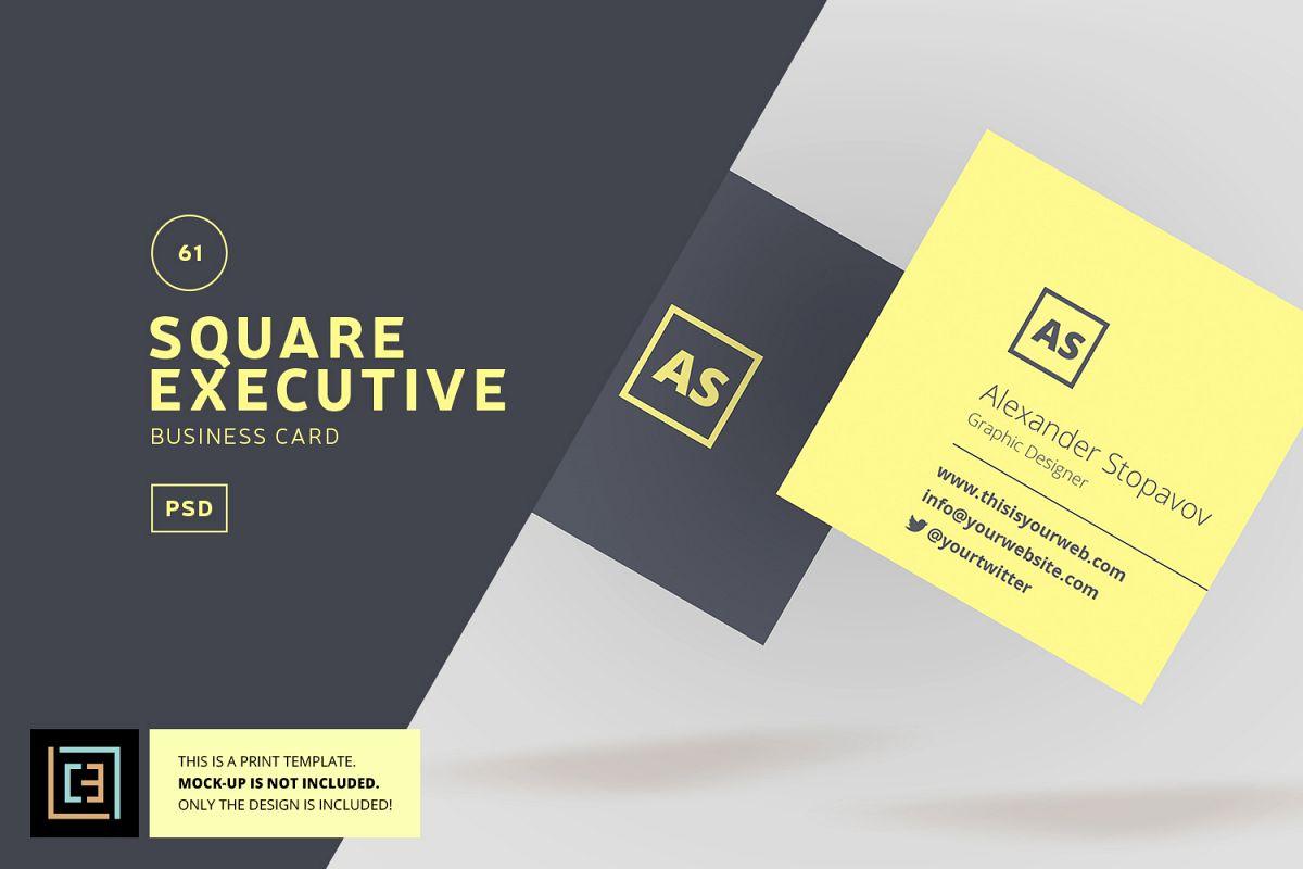 Square executive business card bc061 design bundles square executive business card bc061 example image colourmoves