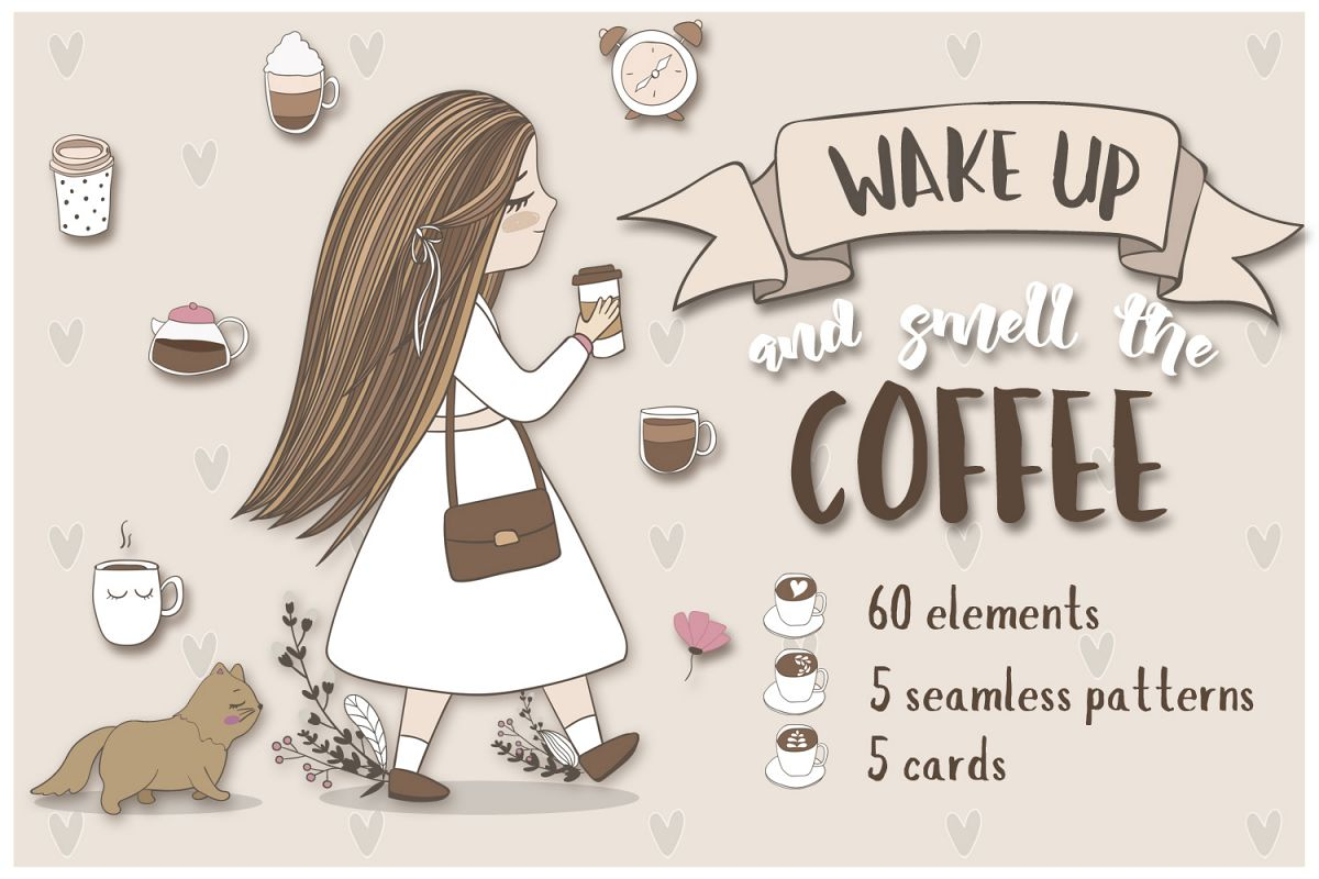 Cute coffee clipart example image 1