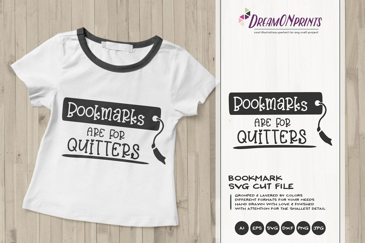 Bookmarks Are For Quitters | Book Worm SVG | Reading SVG example image 1
