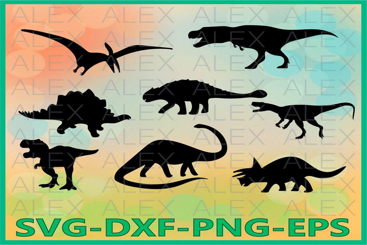 Dinosaurs SVG, Dinosaur Clipart, Dinosaur Silhouette png example image 1