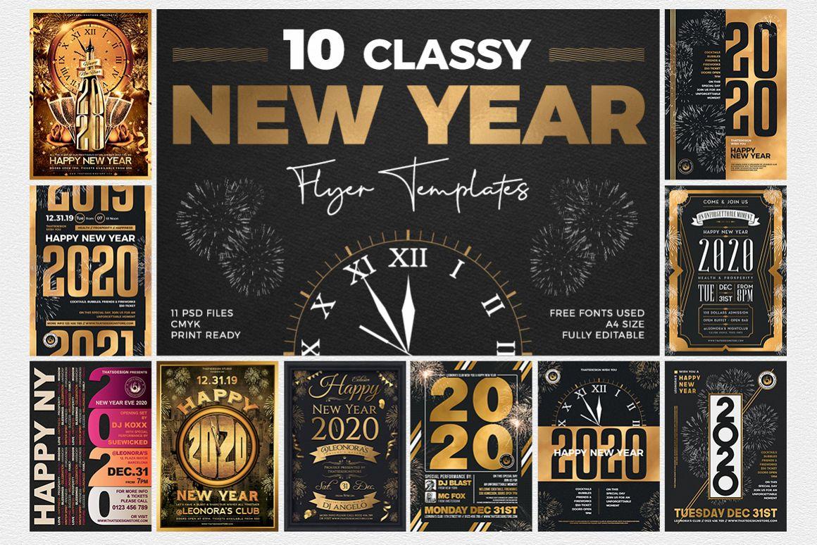 10 New Year Flyer Bundle example image 1