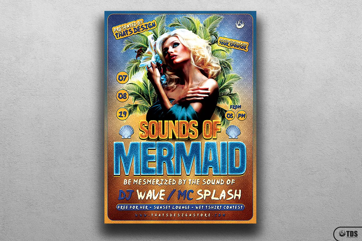 Beach Party Flyer Template V6 example image 1