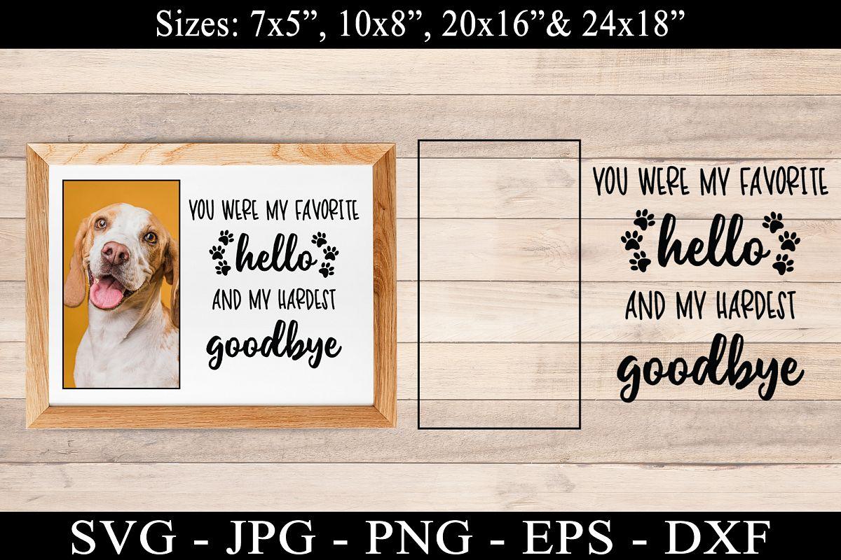 Dog Memorial SVG Dog Goodbye SVG DXF EPS PNG Best Friend SVG example image 1