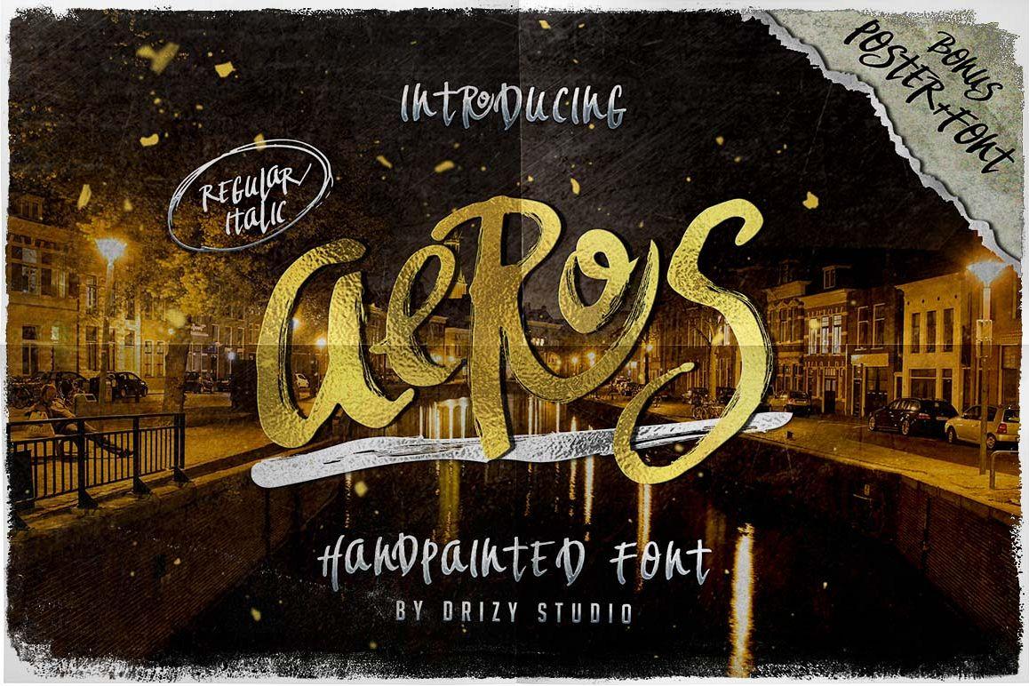 Aeros + Extra Font Roast example image 1