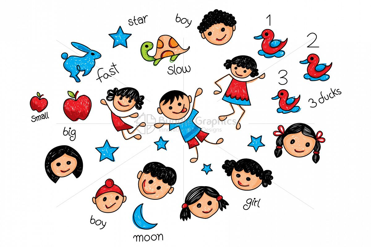 Primary Students Graphical Illustration example image 1