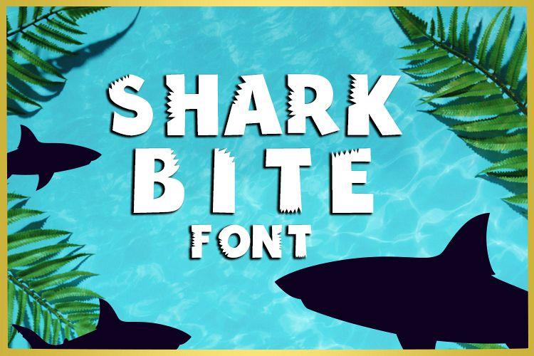 Shark Bite Font example image 1