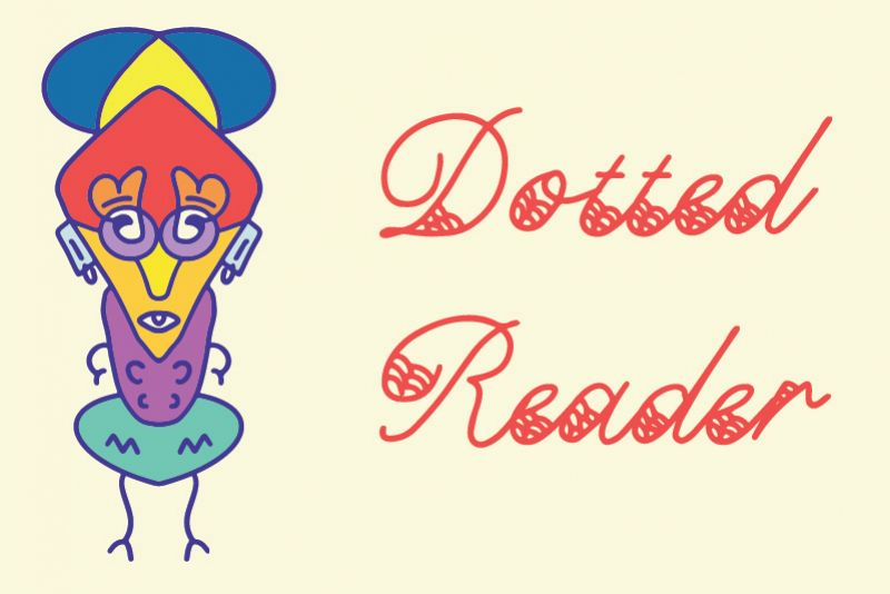 Dotted Reader Font example image 1