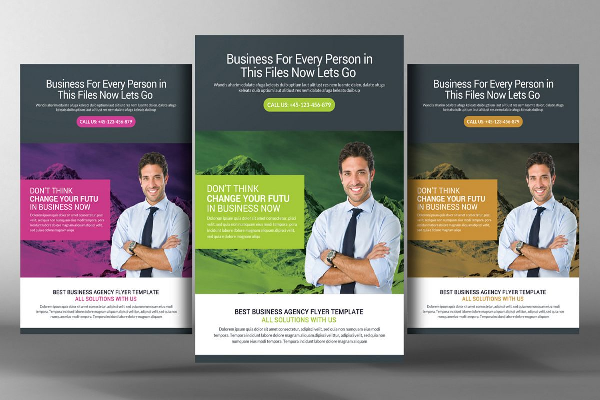 clean indesign business flyer example image 1