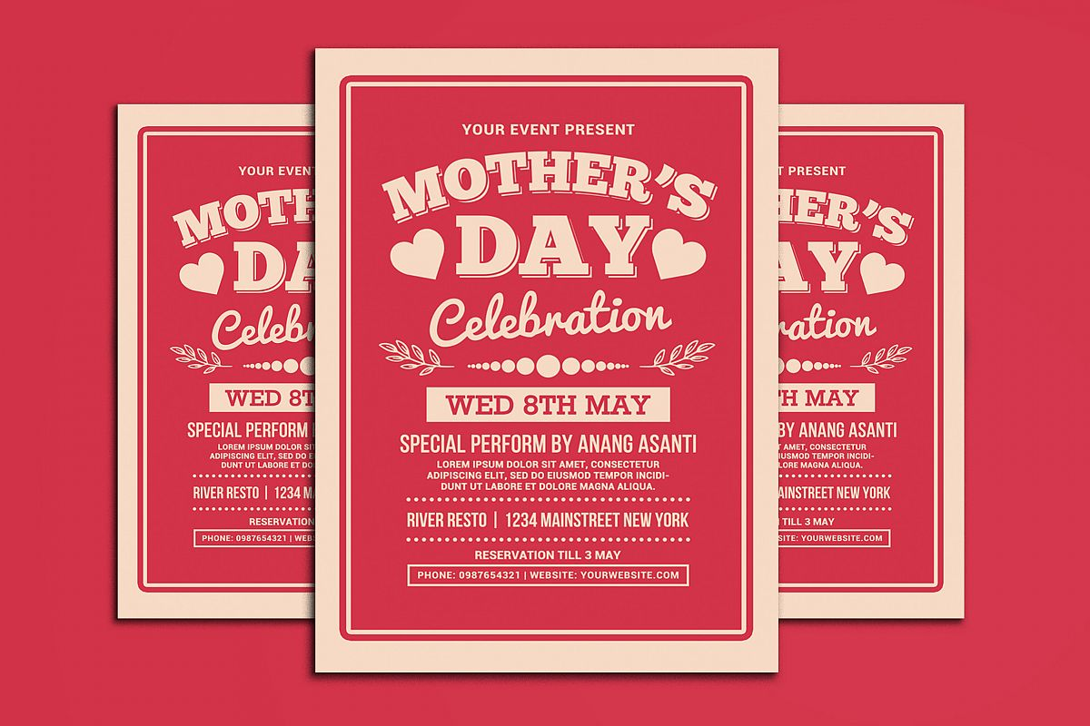 Mother's Day Celebration Typography Style example image 1