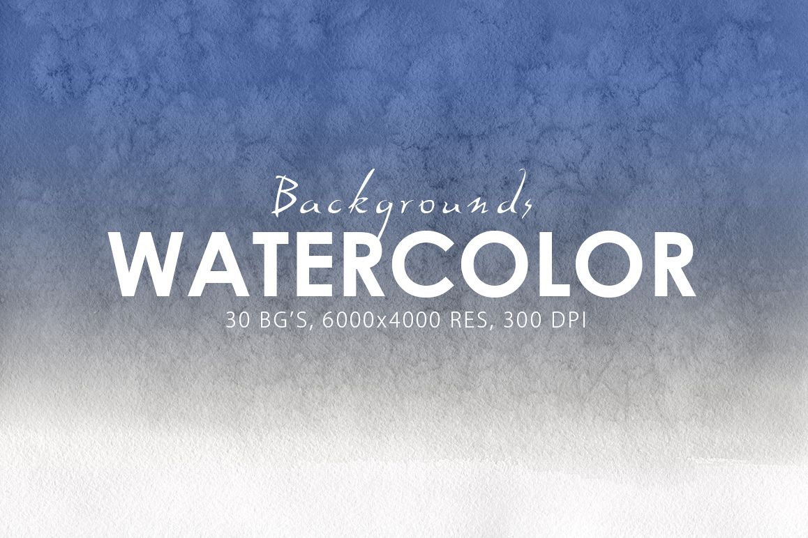 30 Watercolor Gradient Backgrounds example image 1