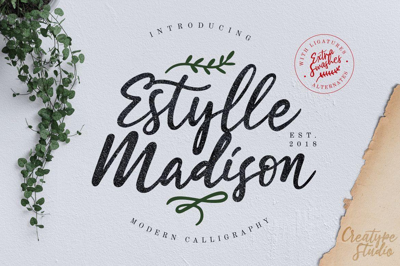 Estylle Madison Calligraphy example image 1