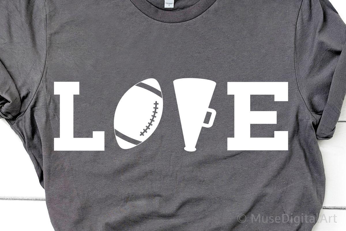 Football Love Svg, Football Svg, Cheer Svg, Cheerleader Svg example image 1