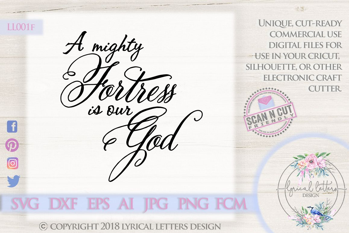A Mighty Fortress Is Our God SVG DXF Cut File LL001F example image 1
