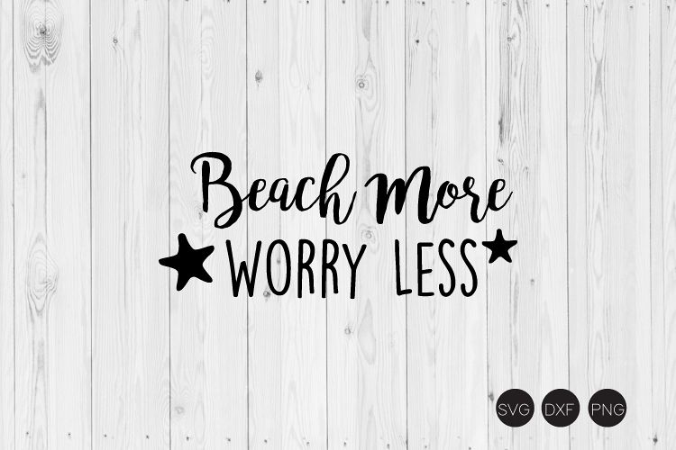 Beach More Worry Less SVG example image 1