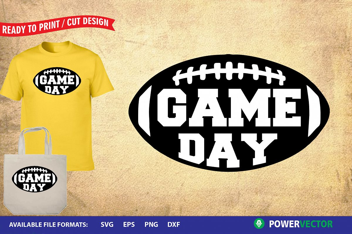 Football Game Day svg dxf | Sports Sayings Cut Files example image 1