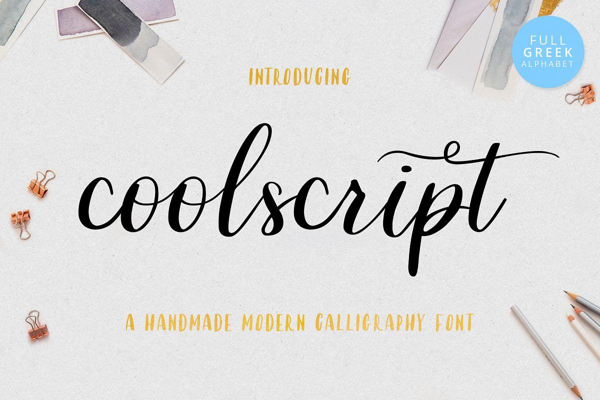Coolscript font example image 1