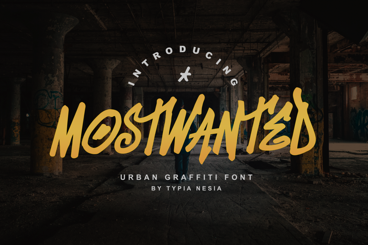 MostWanted Graffiti Font example image 1