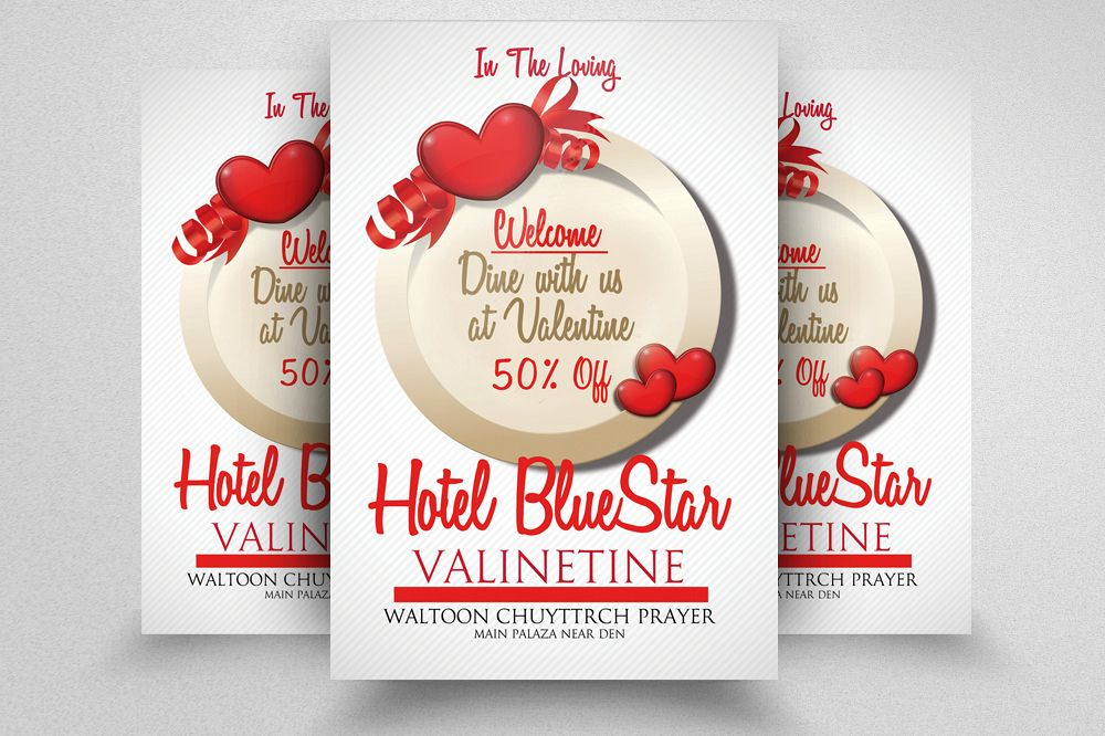 Valentine Flyer Template Psd