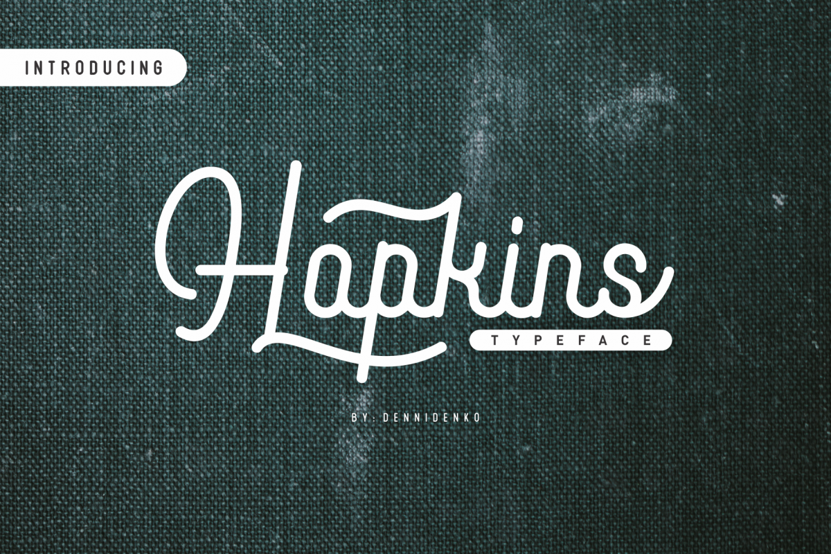 Hopkins monoline script example image 1
