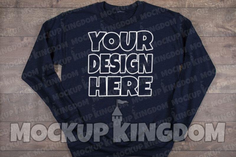 Unisex Crew Neck Sweatshirt Mockup example image 1