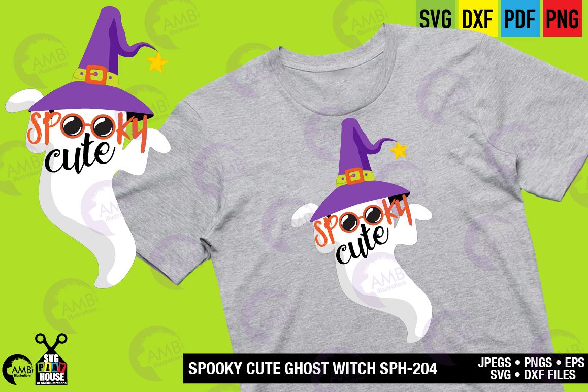 SPOOKY CUTE GHOST SVG SPH-204 example image 1