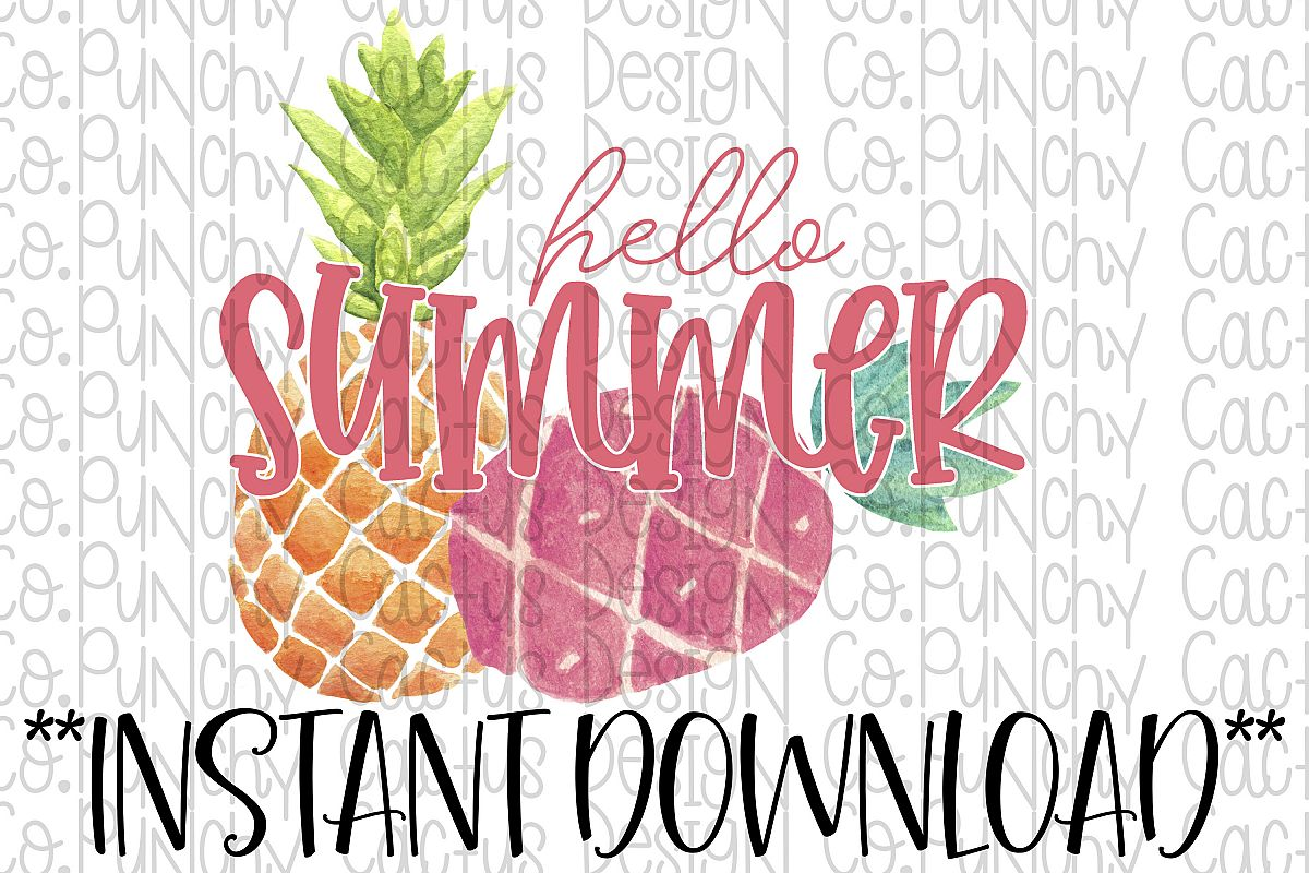 Hello Summer Sublimation Download, Summer example image 1