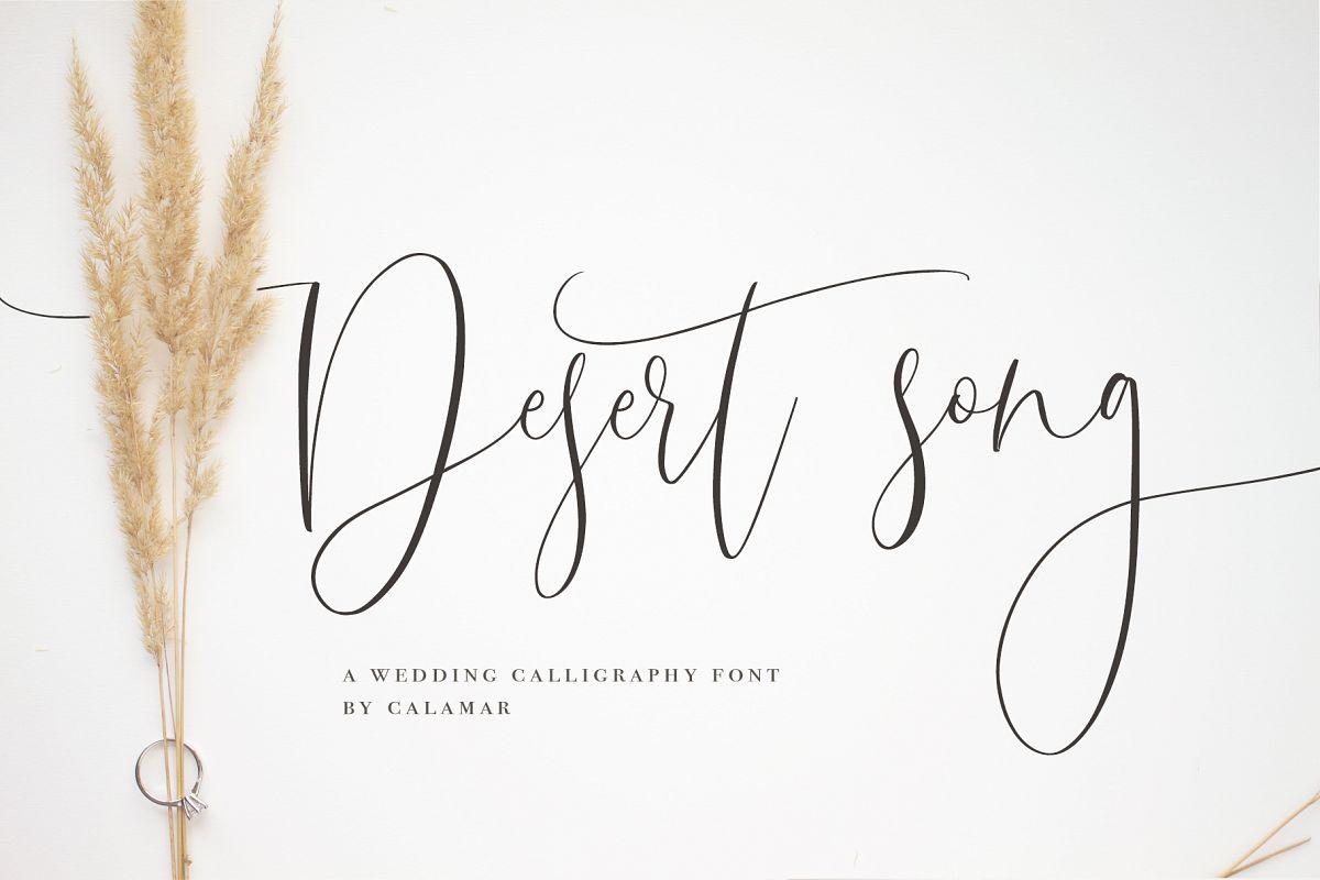 Desert Song | Calligraphy Script example image 1